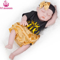 UCanaan Reborn Baby Dolls Full Silicone Body Sleeping Reborn Dolls Toys for Children Best Gifts for Girls