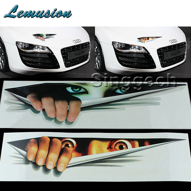 Car Styling Lifelike Eyes Stickers For Toyota Corolla Avensis Auris Prius Acura Mdx Rdx