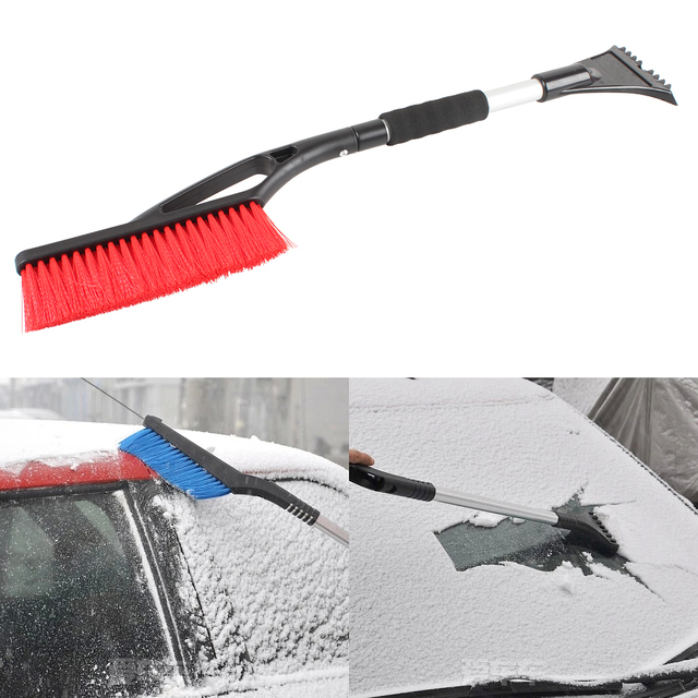 Winter Car Snow Ice Scraper  2 In 1 Auto Retractable Shovel Removal Brush Shovels Scrapers Clean Tool