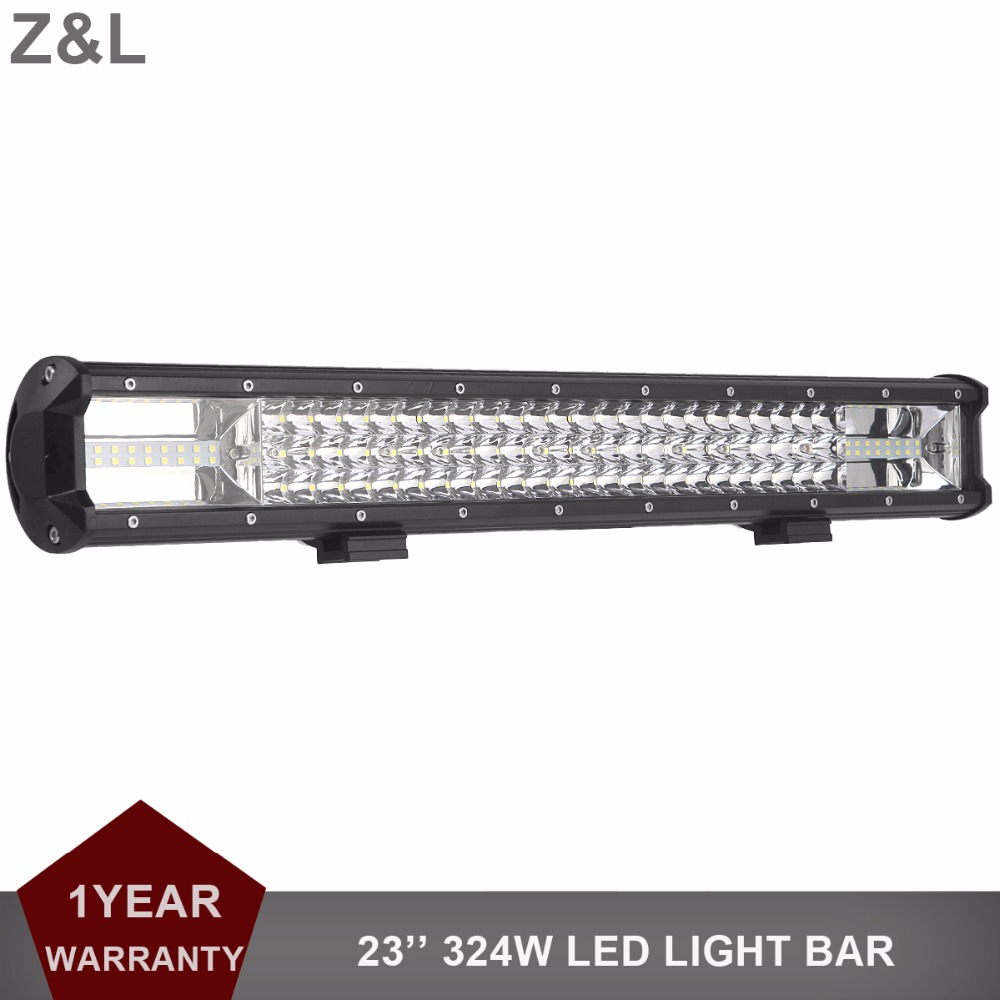 324W OFFROAD LED WORK LIGHT BAR 23 INCH CAR TRUCK BOAT 4WD 4X4 ATV WAGON PICKUP DRIVING LIGHT BAR COMBO 12V 24V SUV RZR FOG LAMP