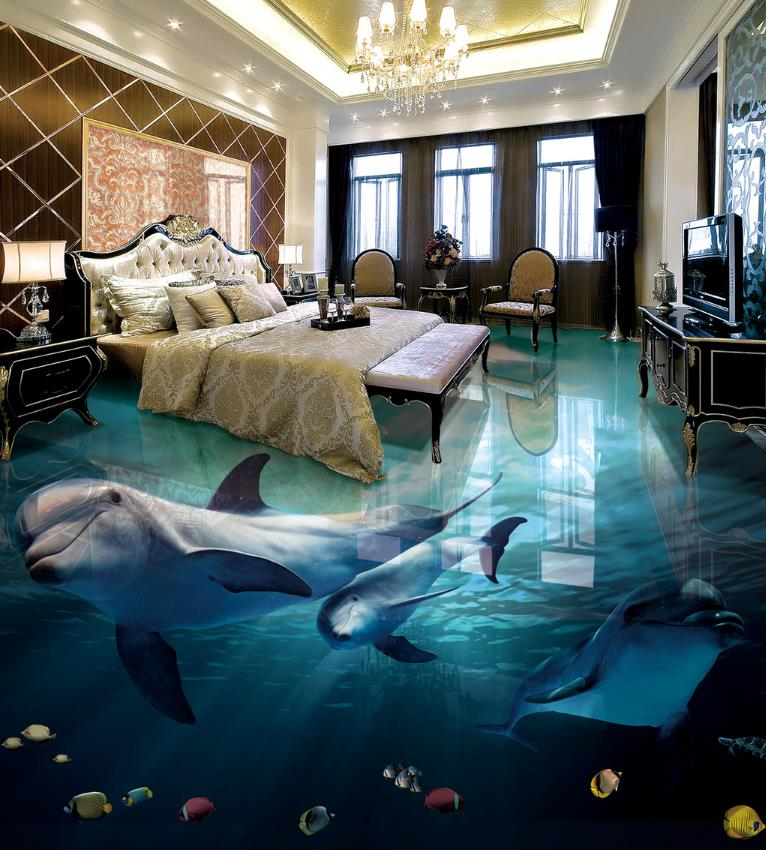 3D Wallpaper Walls 3D Floor Painting dolphin Wallpaper 3D For bedroom Living Room Self-adhesive Wallpaper 3D Flooring book knowledge power channel creative 3d large mural wallpaper 3d bedroom living room tv backdrop painting wallpaper