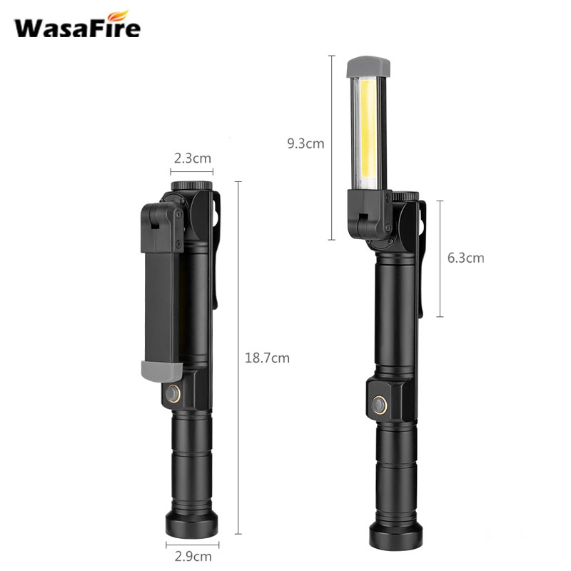 5 pcs/lot camping-car Inspection Éclairage Lanterne Flash Lumière 7 Modes COB + XPE lampe de poche led Pliable Aimant torche avec clip