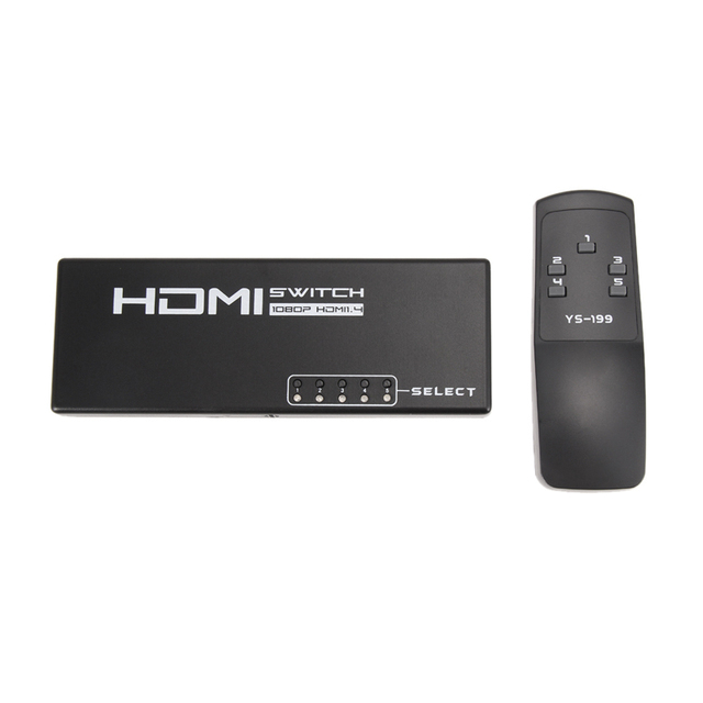 5 Port 1080P Video HDMI Switcher Selector HDMI Splitter Hub Box + IR Remote For HDTV PS4 Cable NI5L