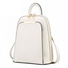 Модные Простые Стиль женщин Рюкзаки Высокое качество кожа Школьные ранцы сумка Марка Дизайн женский рюкзак 2017 молодежная сумка