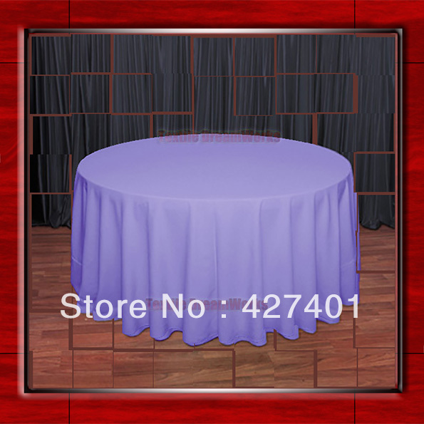 108R Lavender 210GSM Polyester plain Table Cloth For Wedding Events & Party Decoration(Factory Direct Sales)
