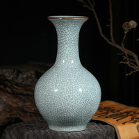 Jingdezhen ceramic vase decoration living room flower arrangement antique flower vase desktop classical Chinese home decoration