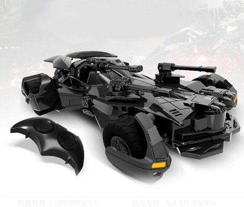 1:18 Batman vs Superman Justice League electric Batman RC car children toys model Gift simulation display Batmobile RC car 1:18 1 18 scale 1995 batman forever batmobile by hot wheels page 5
