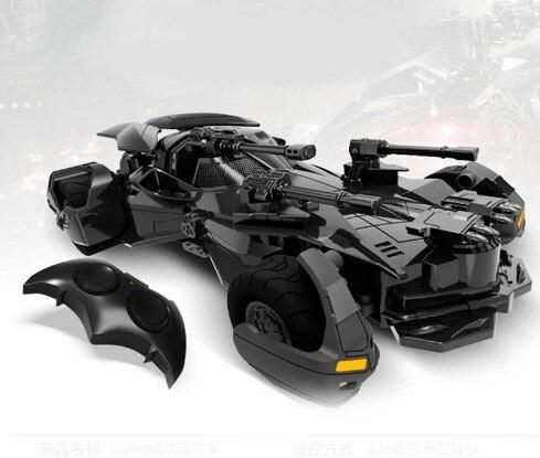 1:18 Batman vs Superman Liga de la justicia Batman eléctrico RC coche niños juguetes modelo regalo simulación pantalla Batmobile RC coche 1:18