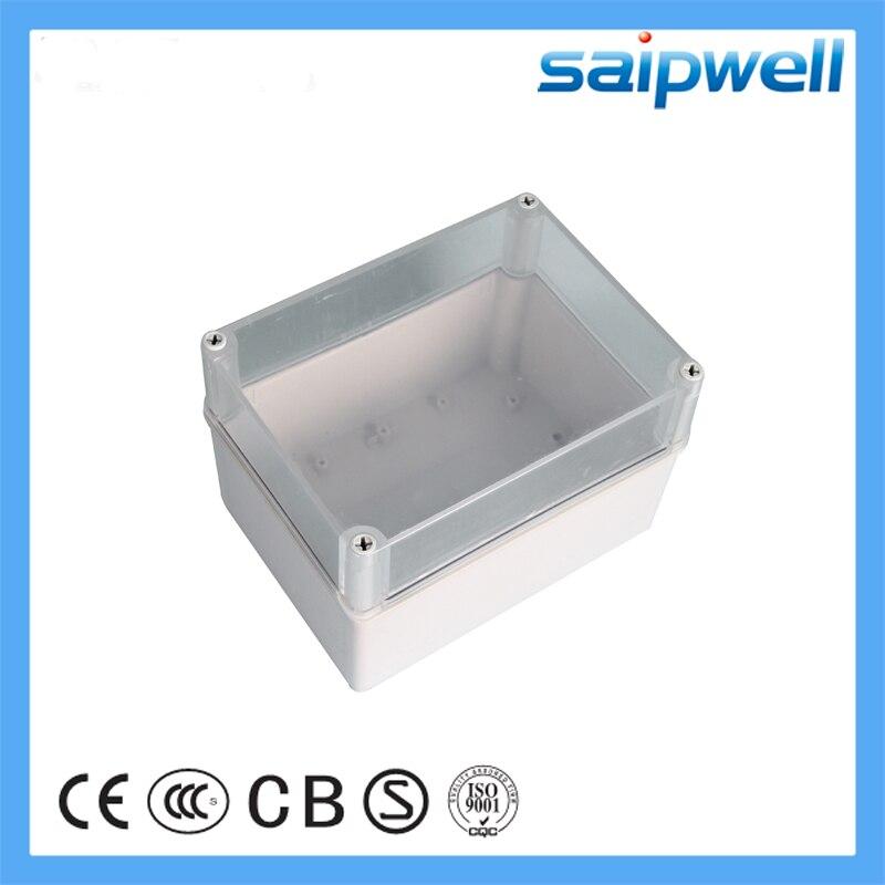 Saipwell 150*200*130mm Transparent pas cher IP66 boîte étanche en plastique ABS commutateur boîte boîtier de jonction électronique boîte DS-AT-1520-1