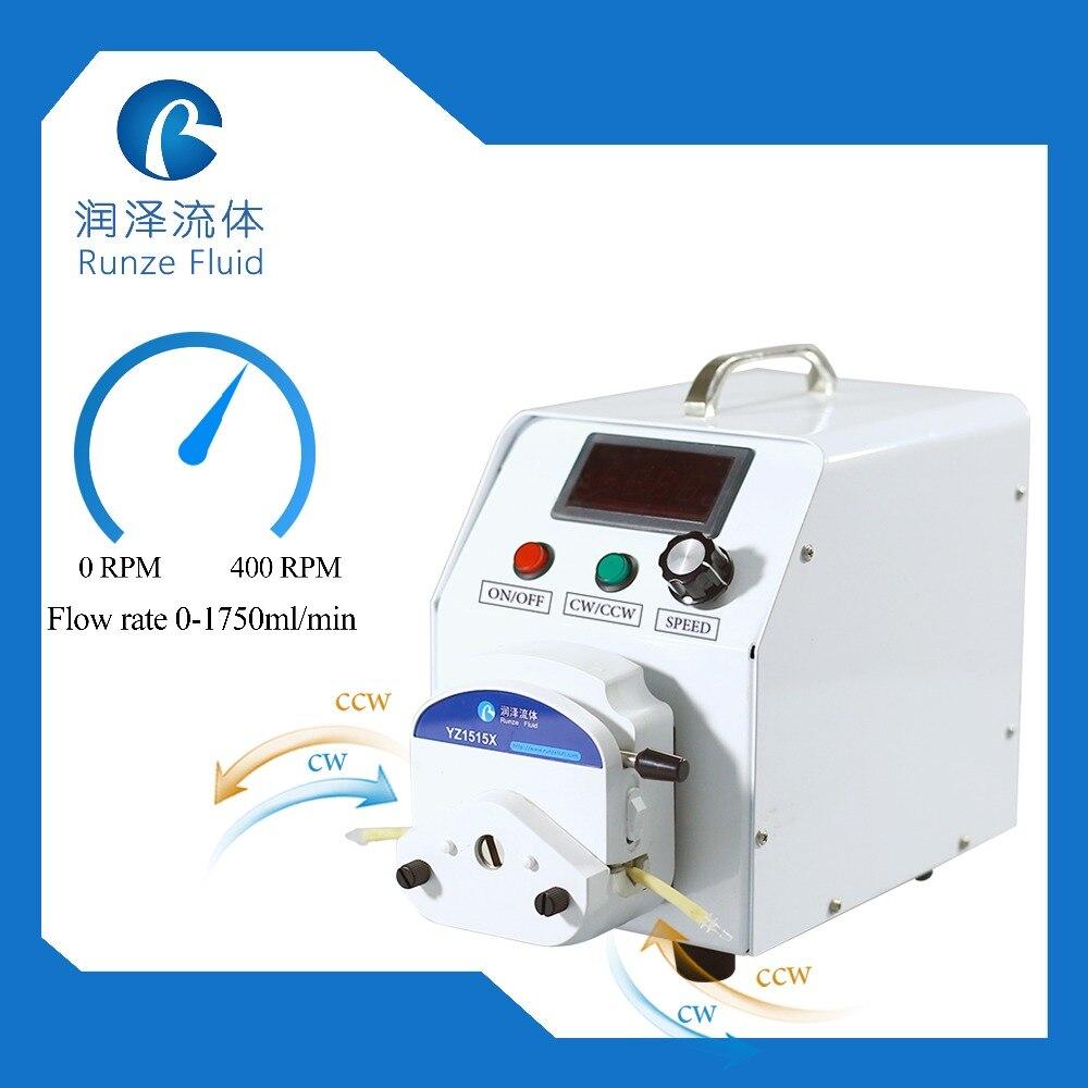YZ15 facile charge pompe liquide péristaltique 1000ml vitesse réglable fluide réversible
