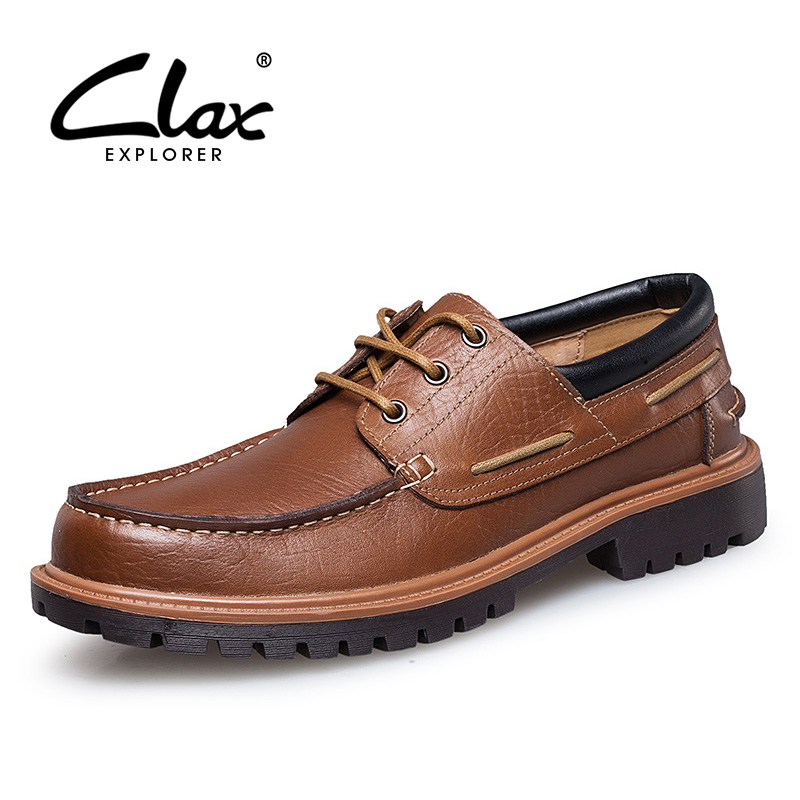 CLAX Men's Leather Shoe Genuine Leather Spring Autumn Casual Footwear Male Oxford British Style Fashion Walking Shoes Classic