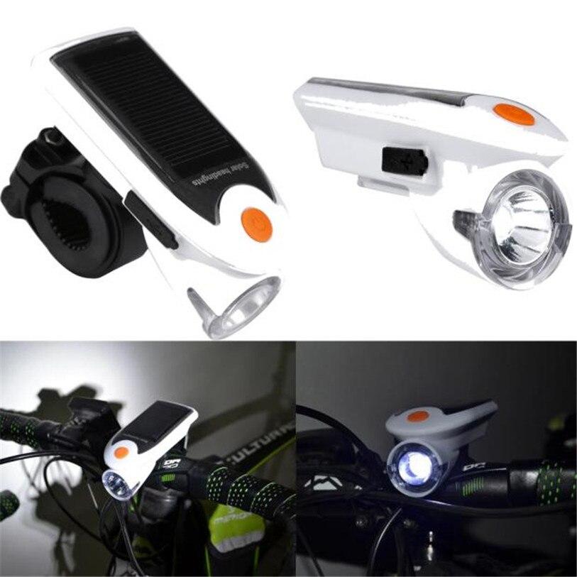 Rechargeable Nouvelle 1 LED Vélo Vélo Solaire Phare Avant Head Light Vélo Vélo Accessoires En Gros Mai 18