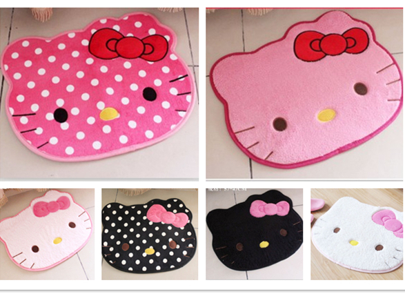 4 Colors Lovely Hello Kitty Home Use Carpet Floor Mat Car Rug Size 50