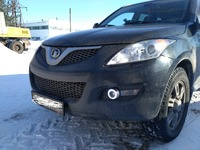 eOsuns COB angel eye led daytime running light DRL + halo Fog lamp + Projector Lens for Great Wall Haval hover H5