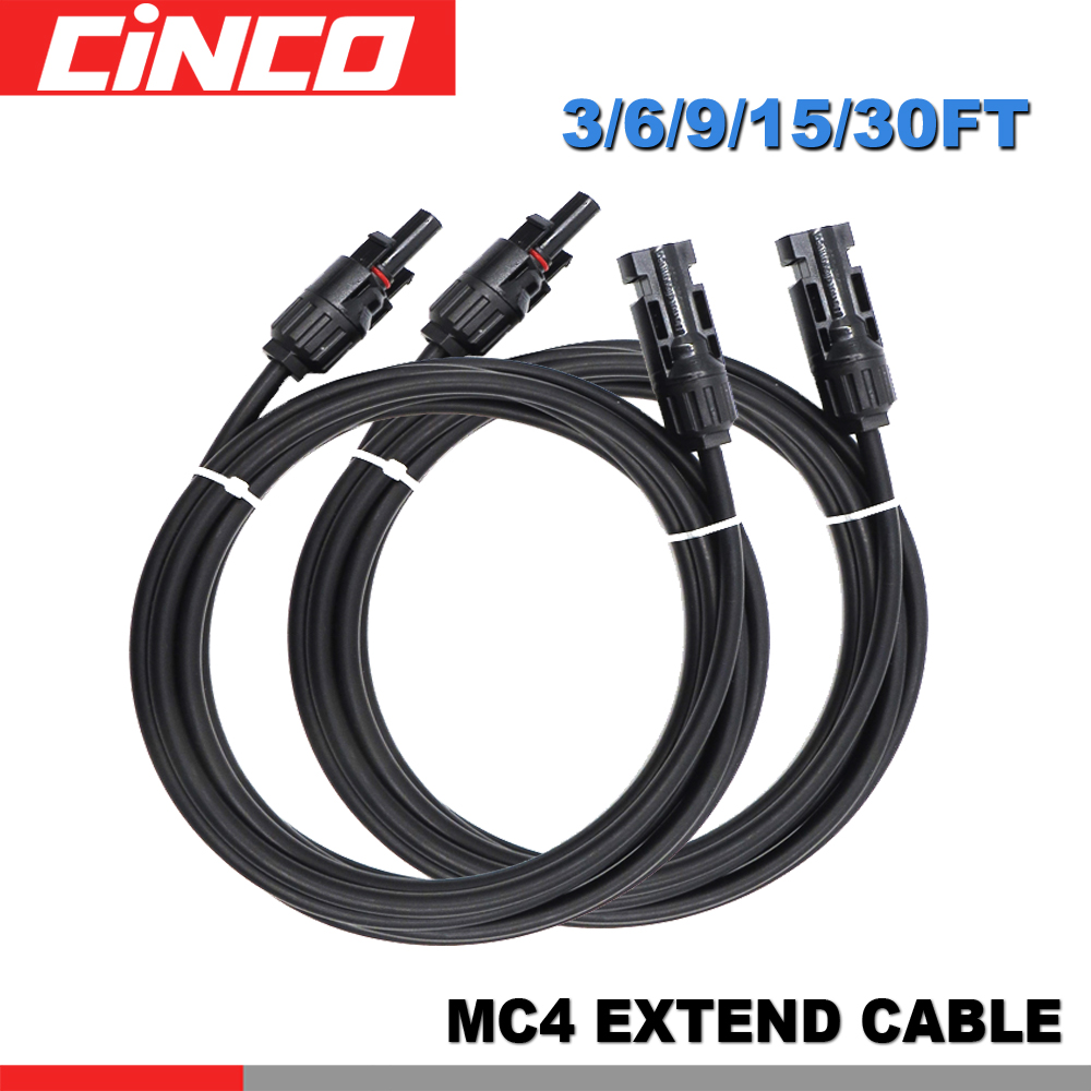 90CM Photovoltaic cable with MC4 connectors pv cable copper core and waterproof 14 12 10 AWG for solar panel system90CM Photovoltaic cable with MC4 connectors pv cable copper core and waterproof 14 12 10 AWG for solar panel system