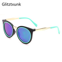 Glitztxunk 2018 Cat Eye Children Sunglasses Sports for Girls Boys Kids