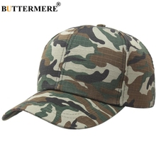 BUTTERMERE Men Women Army Baseball Caps Camouflage Snapback Camo Hat Cotton Green Spring Summer Casual New Unisex Golf