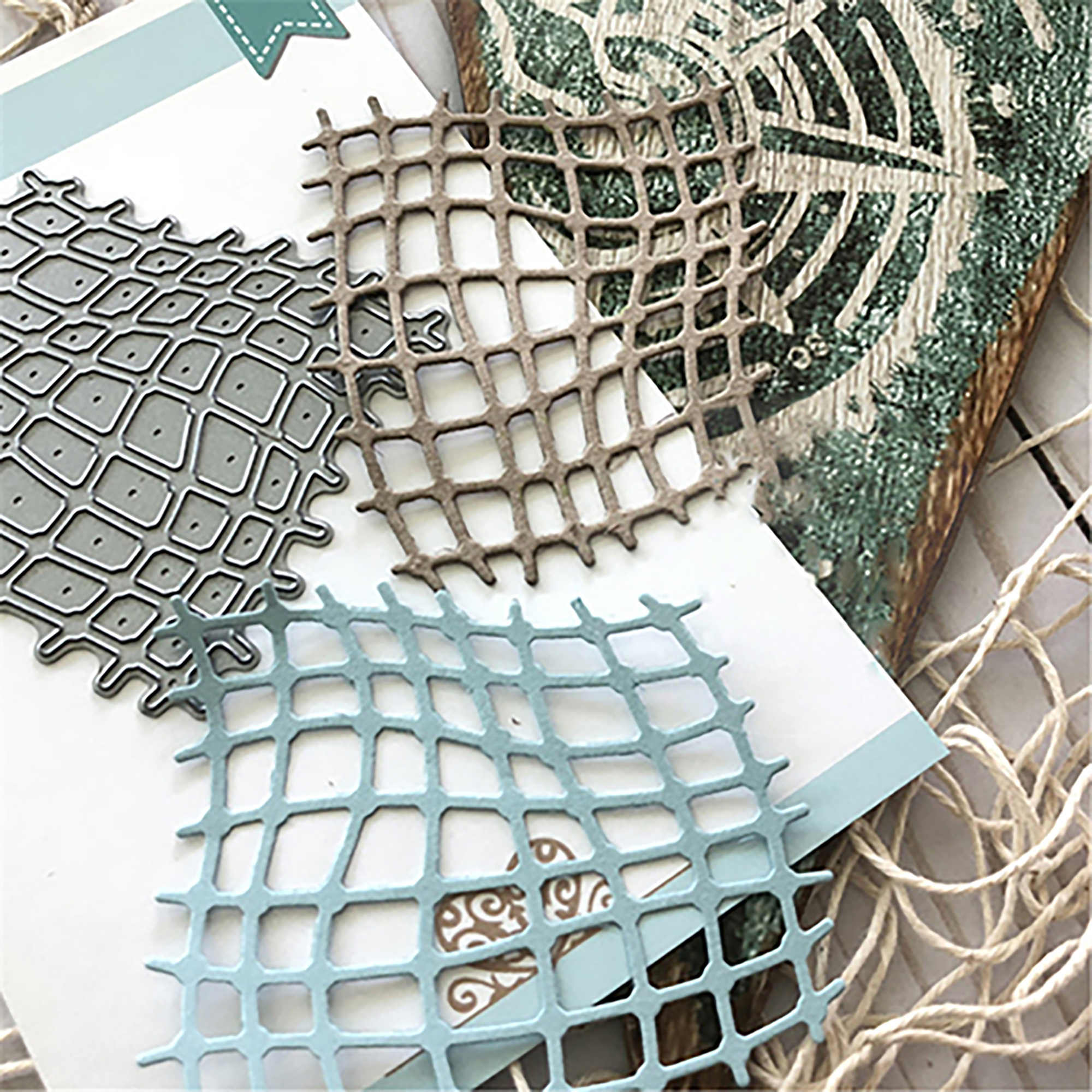 Fishing Net Metal Cutting Dies Scrapbooking For Card Making DIY Embossing Cuts New Craft Die Shell Fish Element