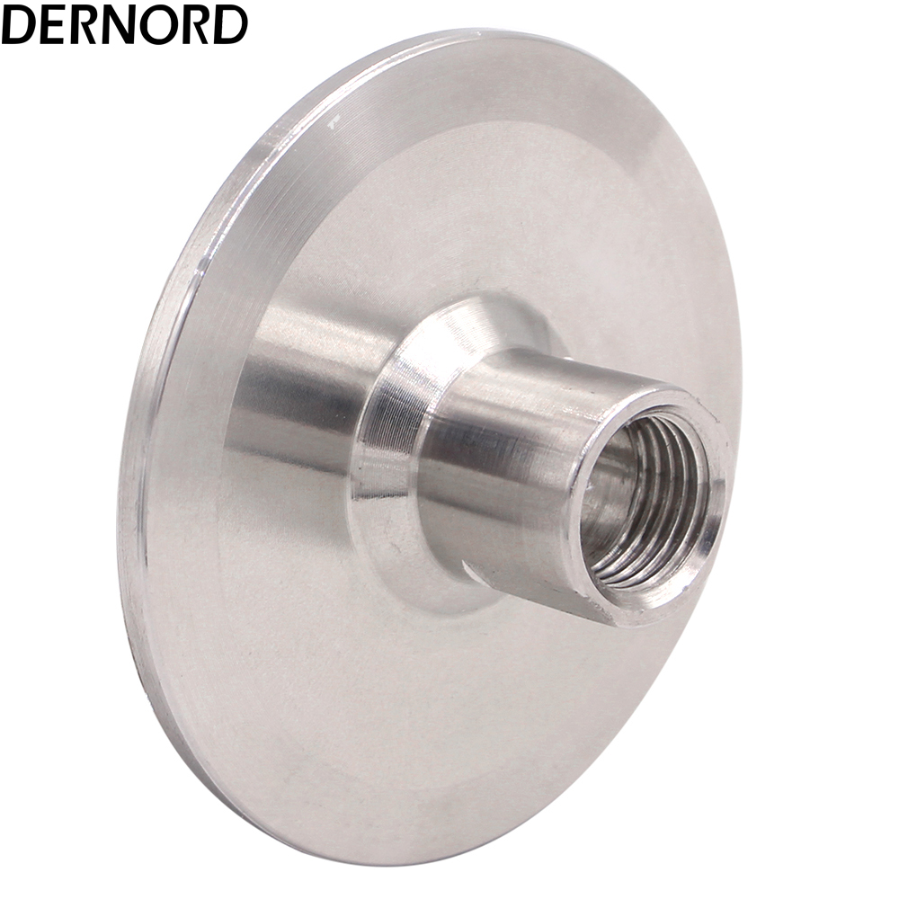 DERNORD NPT 1/4'' Female Thread x 2 Tri Clamp 64mm Ferrule O/D Food Grade 304 Stainless Steel Sanitary Pipe Fitting 102mm tube o d x 106mm ferrule o d 304 stainless steel sanitary weld ferrule connector pipe fitting