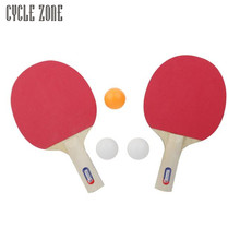 Portable Table Tennis and Grid Ping Pong Racket Set Two Sides Sponge Long Handle for Child Beginners Gifts Lightweight Dec20