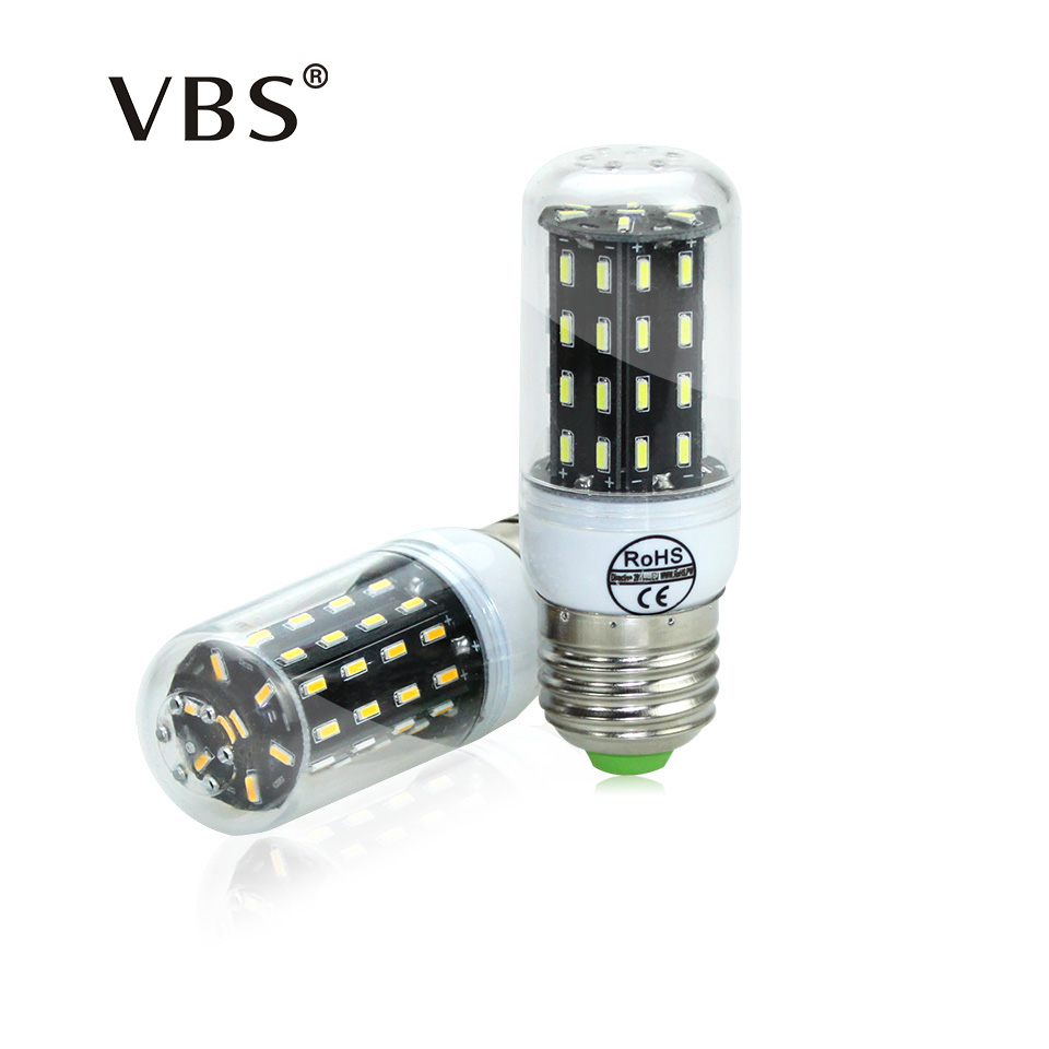 Ultra High Luminous Flux LED Bulb 4014 SMD E27 E14 LED Corn Bulb Chandelier AC220V 38LED ...
