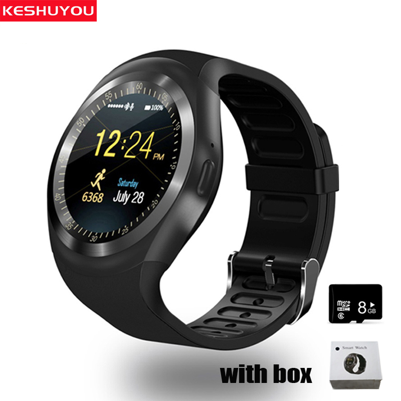 цена KESHUYOU YT1 Smart Watches men Phone Smartwatch Android IOS Type On Wrist Bluetooth Smart watch sim card smartphone network 2g
