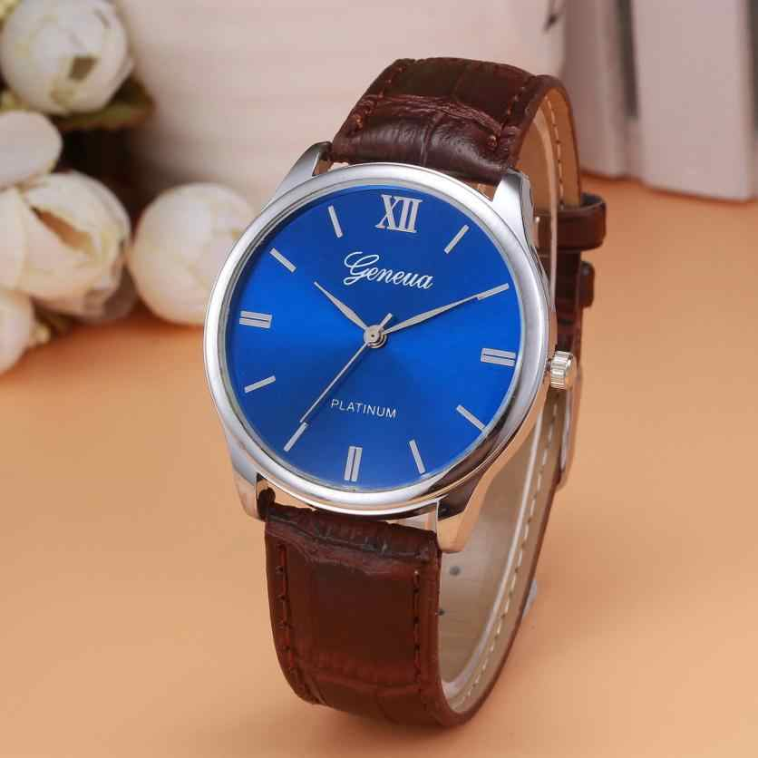 קוורץ גברים שעון לצפות רצועת עור אופנה יוקרה עסקים מקרית זכרים ספורט שעון יד שעון relogio masculino # D