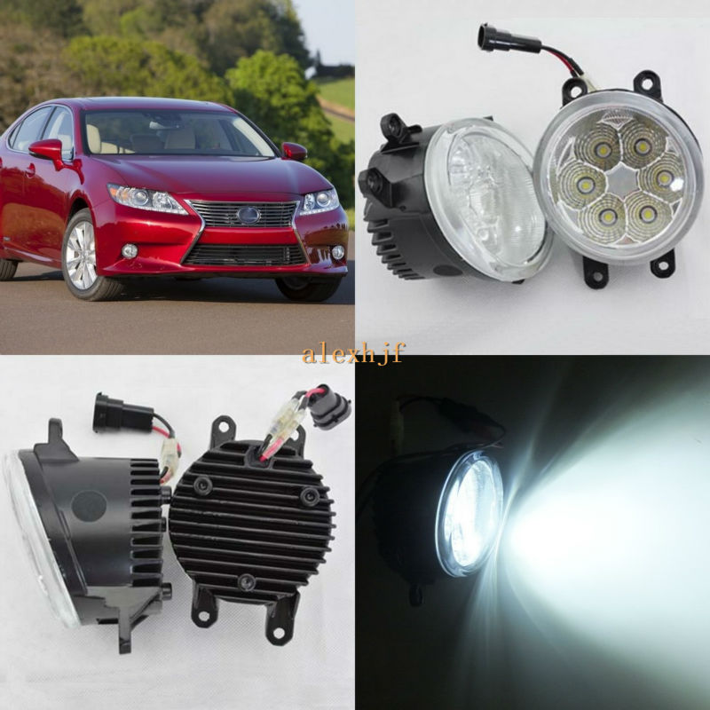 July King 18W 6500K 6LEDs LED Daytime Running Lights LED Fog Lamp case for Lexus ES300h ES350 2013-2015, over 1260LM/pc july king led daytime running lights 6500k 18w led fog lamps case for honda crv fit city crosstour everus and acura 2013 on etc