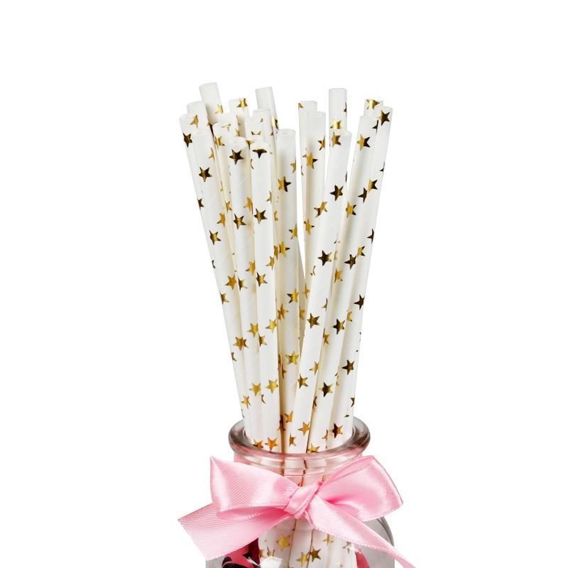 2400 упаковок, фольга Золотая, серебряная, кофейная, чайная, соковая бумажная соломинка для питья, свадьбы, дня рождения, вечеринки, вечерние украшения, оптовая продажа - 6