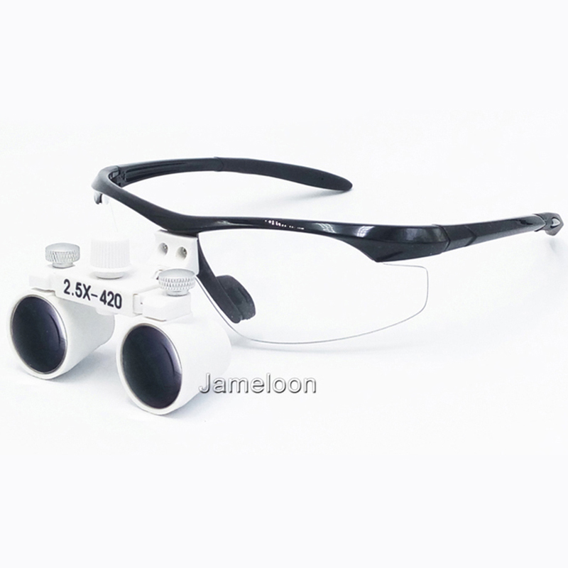 ФОТО 2.5X factory price adjustable eye distance surgical magnify teeth magnifier enlarge glasses dental loupe