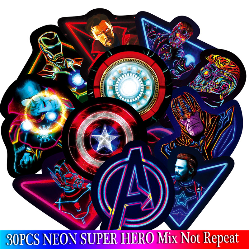 neon-super-hero-stickers-marvel-sticker-skateboard-motorcycle-luggage-stickers-for-laptop-set-pvc-waterproof-superhero-sickers