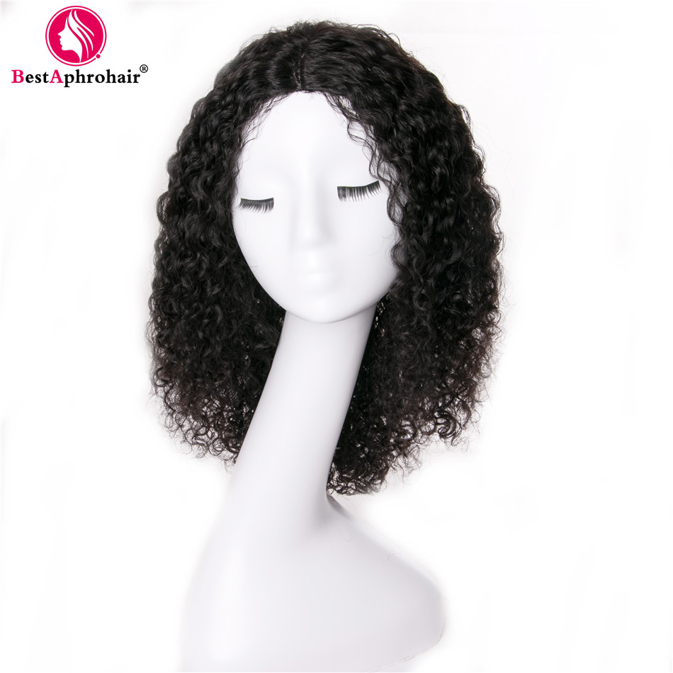 Afro Kinky Curly Human Hair U Part Wig Brazilian Remy Hair Lace Wigs For Women Pre
