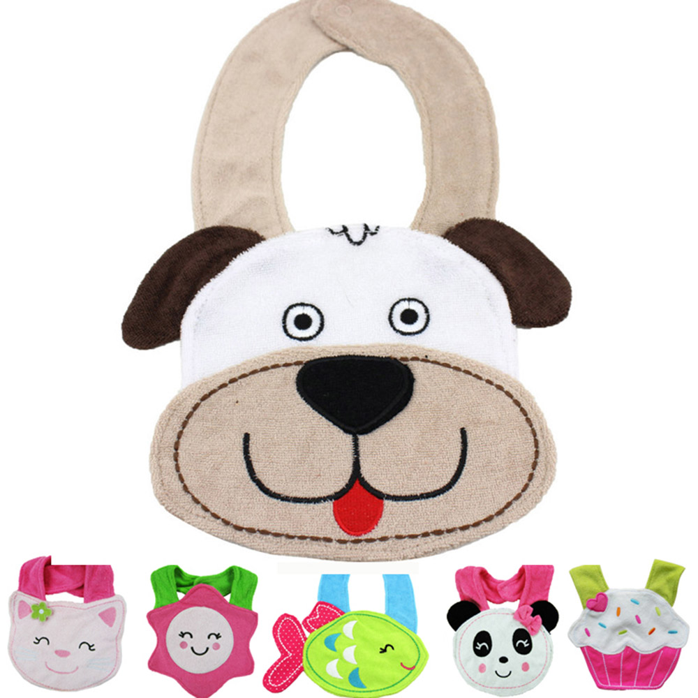 Baby bandana bibs saliva cotton towel material three dimensional stereo animal infant saliva soft towel bib