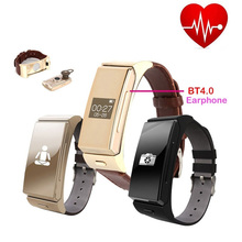New Arrival Uwatch Umini Smart Watch Bracelet with Heart Rate Monitor Bluetooth Headset Sports Fitness Tracker Remote Camera