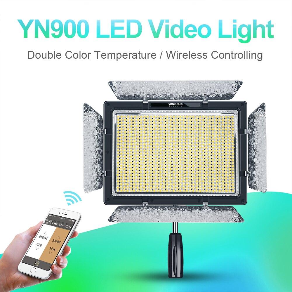 YONGNUO YN900 High CRI 95 Wireless 3200K 5500K LED Video Light Panel YN 900 900 Lamp