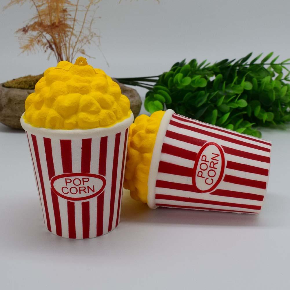 Original Cute Popcorn Squishy Soft Slow Rising Squeeze Food Cake Bread Kid Toy Fun Gift