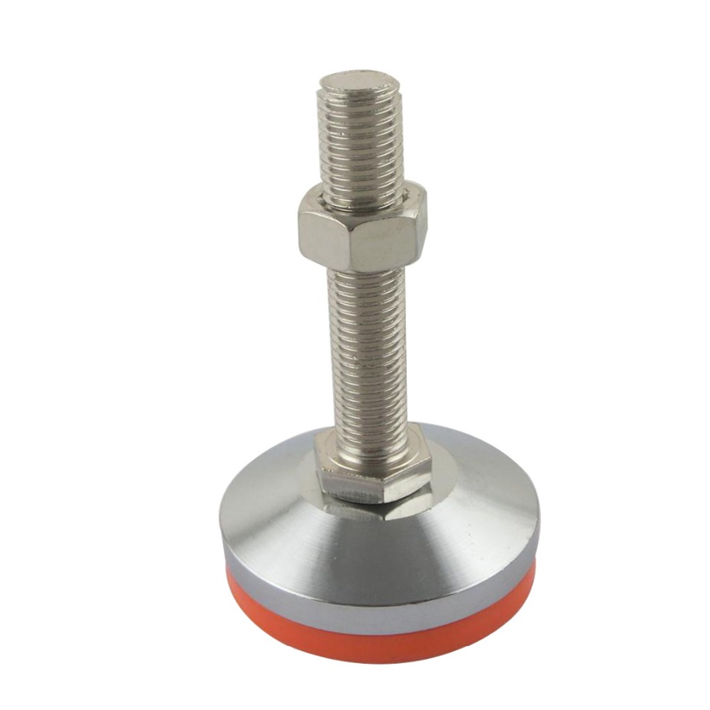 M20x120mm Adjustable Foot Cups 80mm Diameter Chrome Plated M20 Thread 120mm Length Articulated Leveling Foot