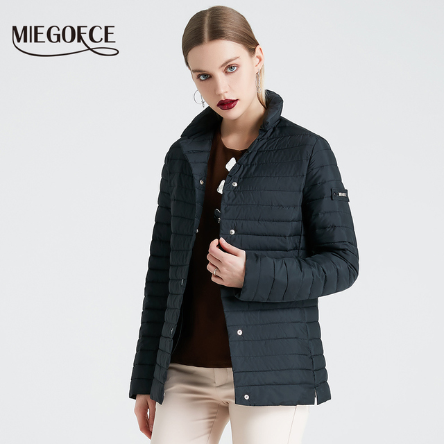 MIEGOFCE 2019 Новая Весенняя Коллекция Курток Стильное Ветрозащитное Женское Пальто Пиджак Женская Весенняя Куртка