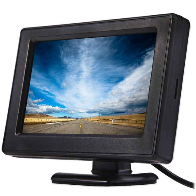 New 4.3″ TFT LCD Car Monitor Auto Vehicle Parking Rearview Rotatable Display Screen Monitors for Rear View Camera DVD VCD