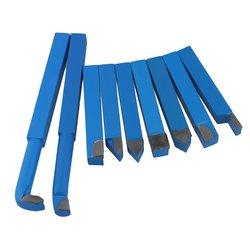 9 sztuk żelaza narzędzia tokarskie tokarka węglika lutowane Bit 12mm trzpień kwadratowy niebieski