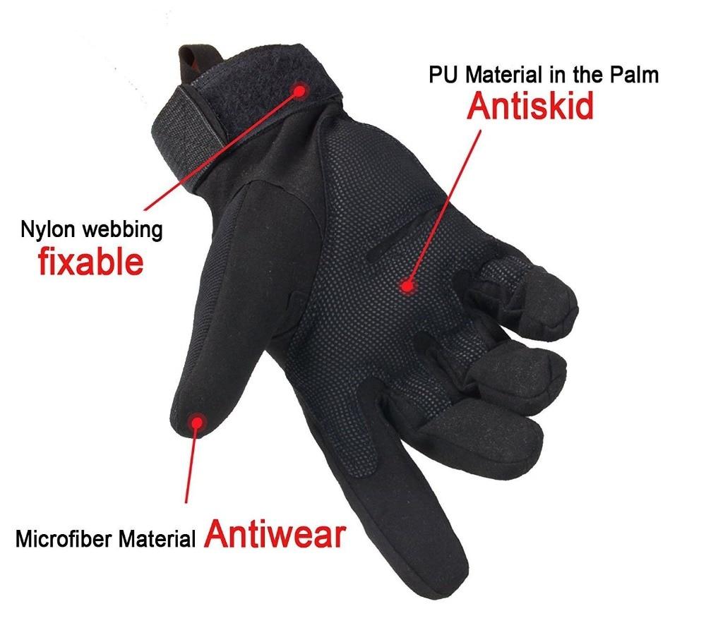 Motorcycle Gloves Special Ops Full Finger Winter Gloves Tactical Gloves for Men Outdoor Sport Driving Black