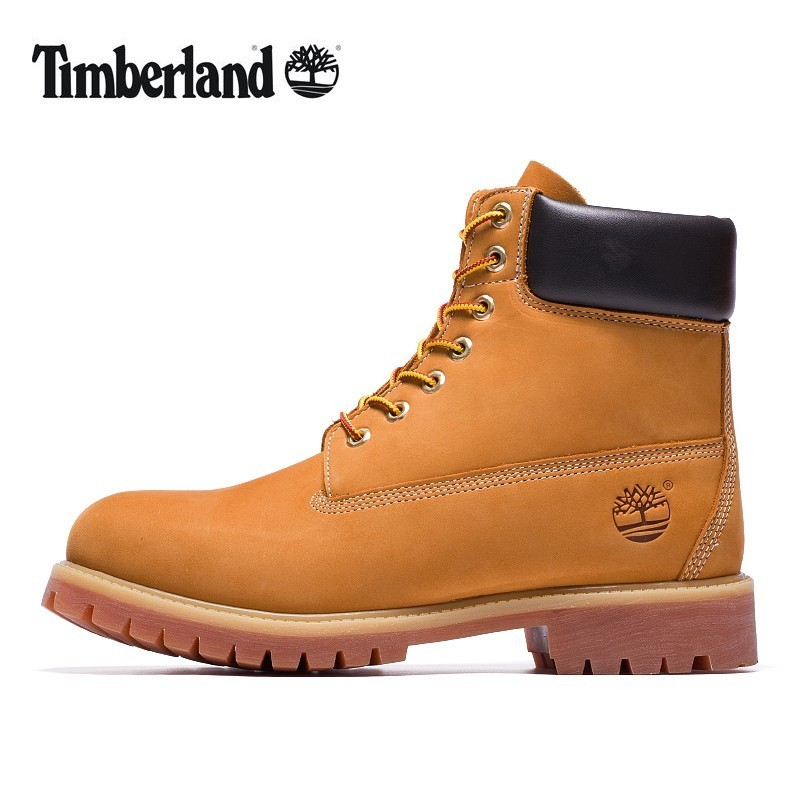 TIMBERLAND Classic Men's 6-Inch Premium Waterproof Boots For Men Male Nubuck Genuine Leather Ankle Wheat Yellow Shoes 10061