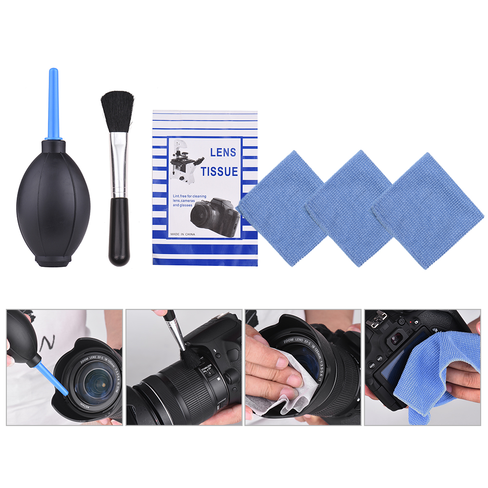 Image 4 - 6 in 1 Dust Cleaner Camera Cleaning Kit Lens Brush+ Cleaning Cloth+ Air Blower for Canon Nikon Sony DSLR ILDC Camera and Lens-in Photo Studio Accessories from Consumer Electronics