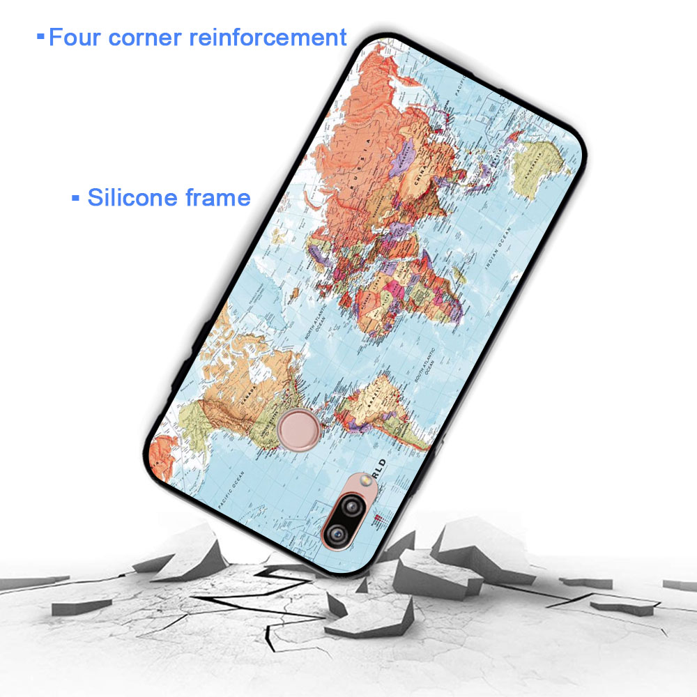 World Map Travel Plans Soft Case for Huawei P8 P9 Lite Mini P10 P20 P30 Plus Pro P Smart Z 2019 in Fitted Cases from Cellphones Telecommunications