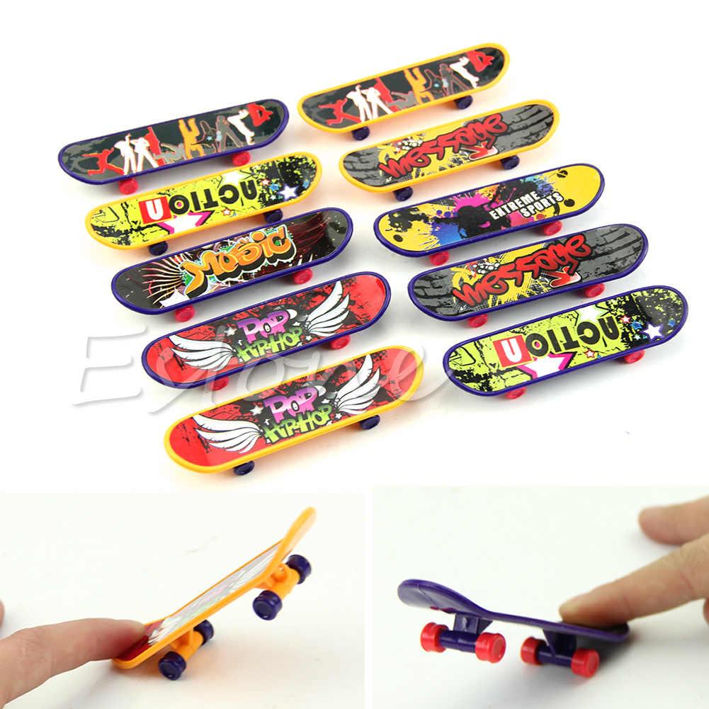 1pc ミニフィンガーボードデッキトラックミニスケートボードのおもちゃ子供ギフト