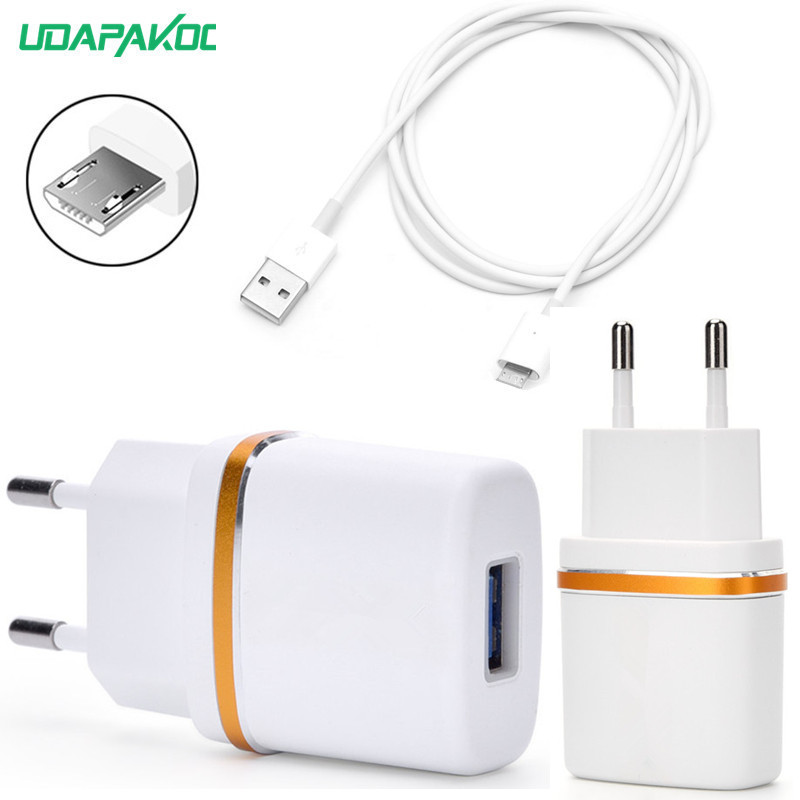 US $1.99 10% OFF|EU Plug 1 Port USB Charger 5V 2A Adapter Micro USB Charging For xiaomi huawei honor Mate 7 8 samusng lenovo HTC Sony LG nokia in