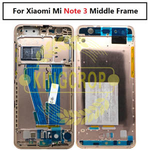 f7e273091c55 Gold Black Metal Faceplate Bezel Middle Frame For Xiaomi Mi Note 3 Note3  Front LCD