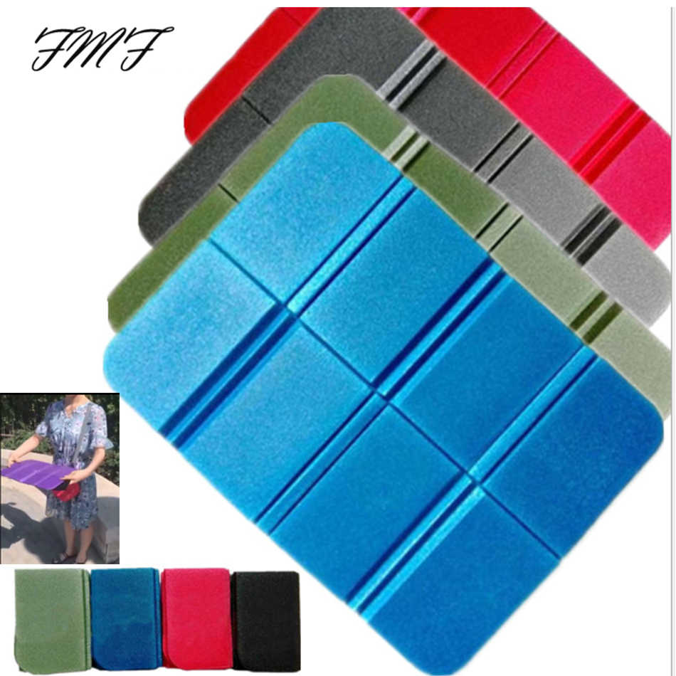 1 Set Portable Camping Picnic Beach Mats 38.5*27.5*8CM Cushion Folding Foam with Square Oxford Bag Waterproof Odorless Mat