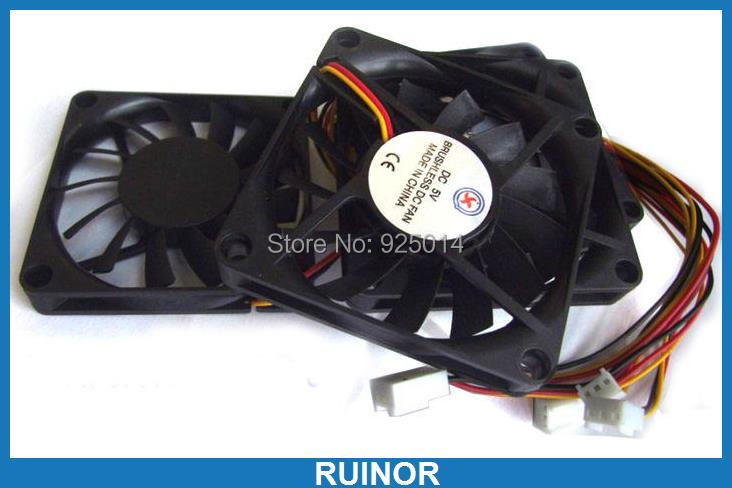 10PCS 3 pin Cable Brushless Cooling Fan 5V Fans 70x70x10mm DC fans PC Chassis 80mm dc brushless pc chassis cooling fan
