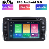Octa Core Android 9 Car DVD Player for Mercedes Benz ML W163 CLK W209 W203 W170 Navigation Multimedia Radio Stereo Head Unit